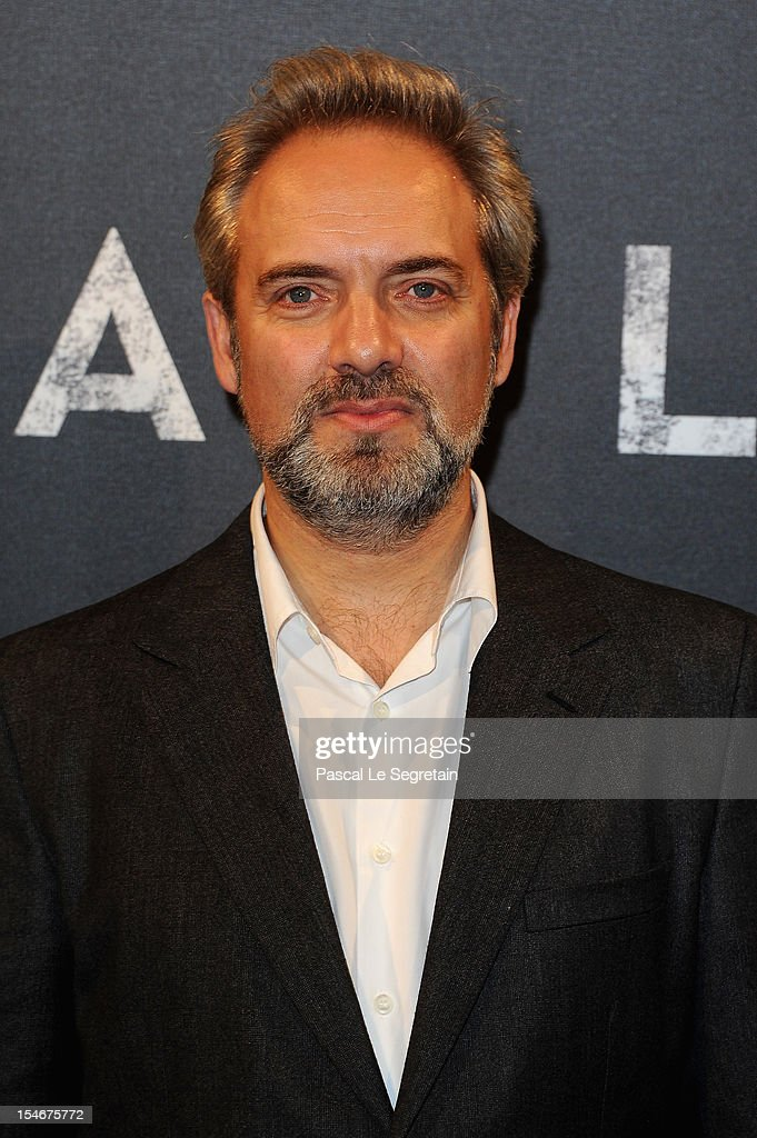 Sam Mendes attends the premiere of the latest James Bond 'Skyfall' at Cinema UGC Normandie on October 24, 2012 in Paris, France.