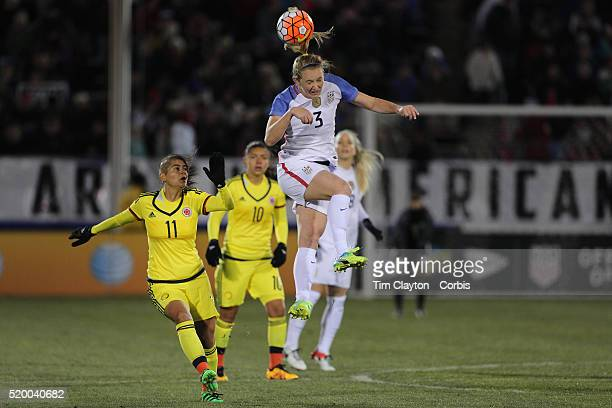 Sam Mewis USA in action during the USA Vs Colombia Women's International friendly football match at the Pratt Whitney Stadium on April 6 2016 in East...