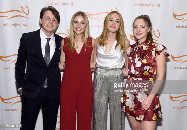 Sam Michael Fox Schuyler Frances Fox Aquinnah Kathleen Fox and Esme Annabelle Fox attend A Funny Thing Happened On The Way To Cure Parkinson's...