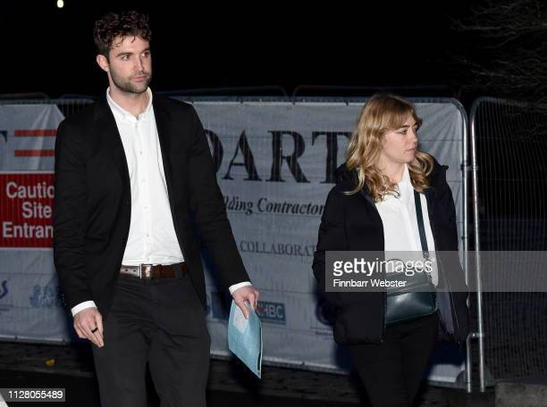 Sam Michie and Daisy Michie leave Winchester Crown Court on February 07 2019 in Winchester England Ceon Broughton is on trial for manslaughter after...