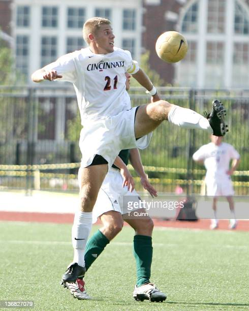 Sam Miller in action for Cincinnati. University of Cincinnati came from behind to score two second half goals in a 2-1 victory over visiting Notre...
