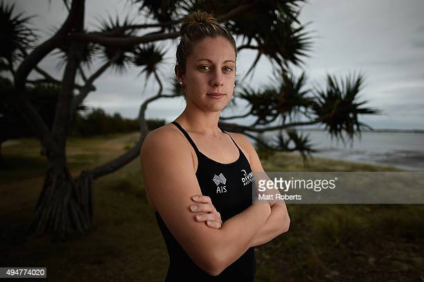 Sam Mills of Australia poses for a portrait during the FINA Diving Grand Prix on October 29 2015 on the Gold Coast Australia