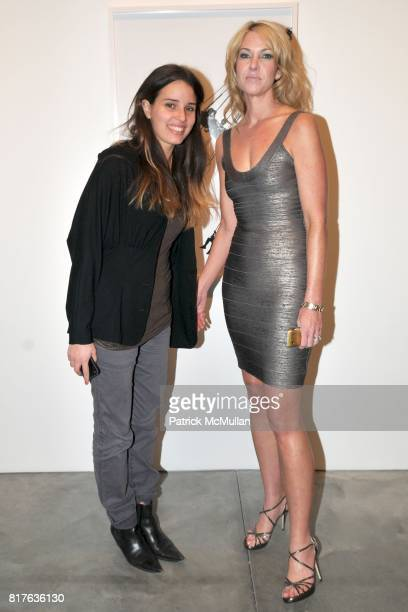 Sam Mirlesse Sarah Hasted attend Artist's Reception with NATHAN HARGER at Hasted Kraeutler on December 9th 2010 in New York City