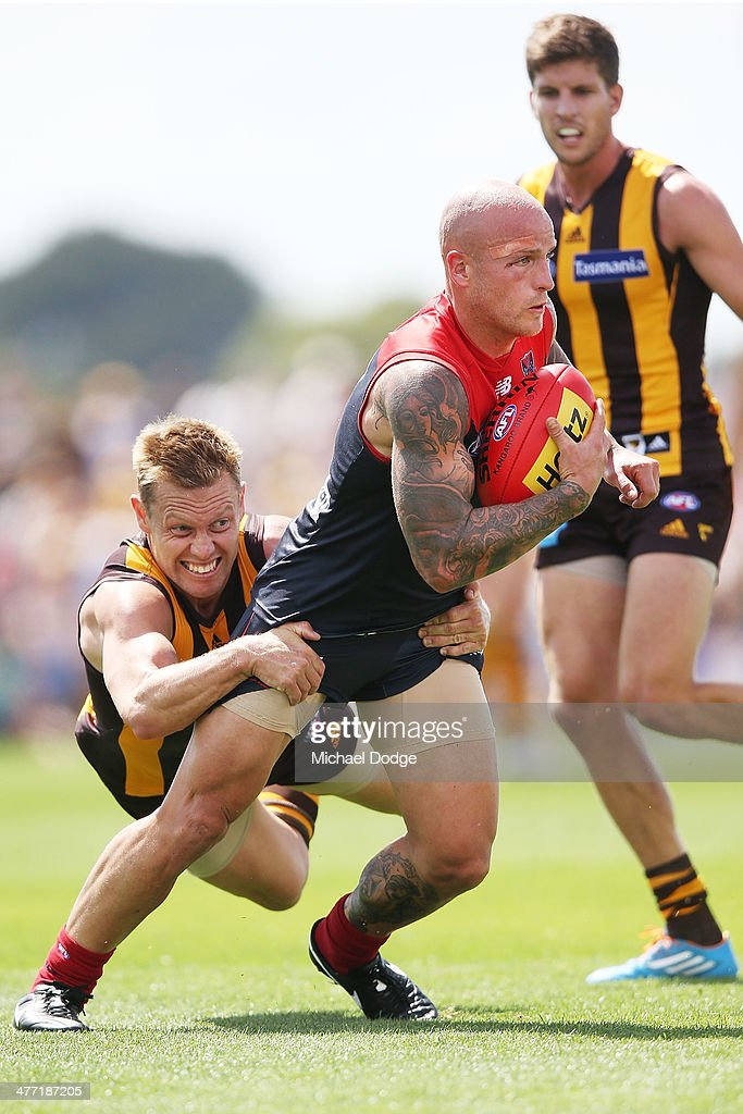 Melbourne v Hawthorn - AFL Practice Match