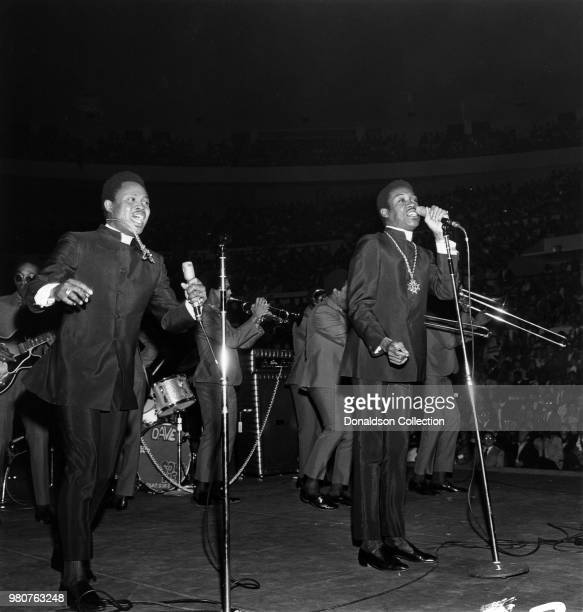 Sam Moore and Dave Prater of the soul group Sam And Dave perform onstage at the Soul Together Martin Luther King Jr tribute at Madison Square Garden...