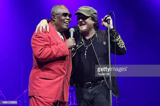Sam Moore and Zucchero perform at The Theater at Madison Square Garden on April 23 2014 in New York City