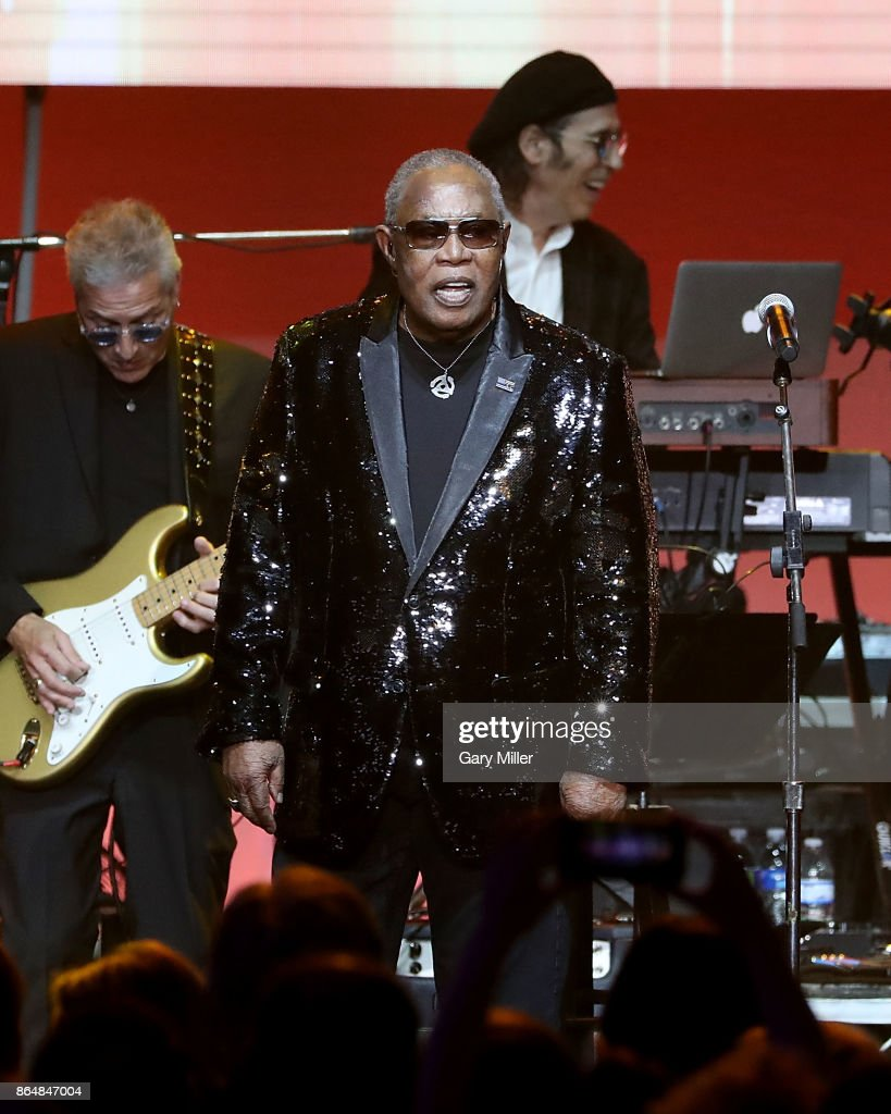 Sam Moore performs in concert during the 'Deep From The Heart: One America Appeal Concert' at Reed Arena on October 21, 2017 in College Station, Texas.