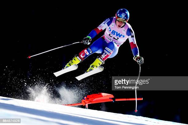 Sam Morse of the United States competes in the Audi Birds of Prey World Cup Men's Downhill on December 2 2017 in Beaver Creek Colorado