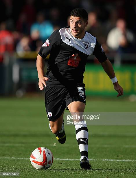 Sam Morsy of Chesterfield in action during the Sky Bet League Two match between Fleetwood Town and Chesterfield at Highbury Stadium on October 12,...