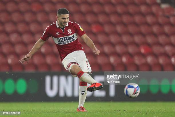 Sam Morsy of Middlesbrough in actionduring the Sky Bet Championship match between Middlesbrough and Millwall at the Riverside Stadium, Middlesbrough...
