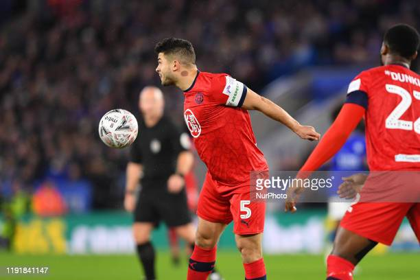 Sam Morsy of Wigan Athletic during the FA Cup Third Round match between Leicester City and Wigan Athletic at the King Power Stadium Leicester on...