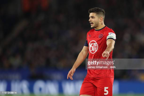 Sam Morsy of Wigan Athletic during the FA Cup Third Round match between Leicester City and Wigan Athletic at The King Power Stadium on January 4 2020...