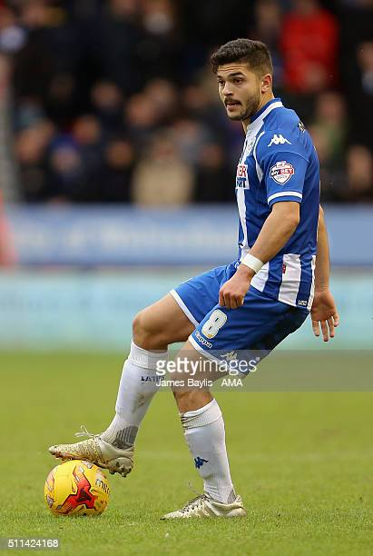 Sam Morsy of Wigan Athletic during the Sky Bet League One match between Walsall and Wigan Athletic at Bescot Stadium on February 20 2016 in Walsall...