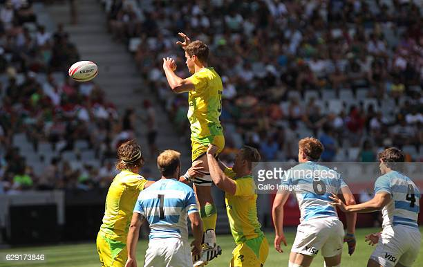 Sam Myers of Australia during the match between Australia and Argentina during day 2 of the HSBC Cape Town Sevens at Cape Town Stadium on December 11...