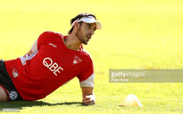 Sam Naismith of the Swans trains during a Sydney Swans AFL training session at Sydney Cricket Ground on July 4 2017 in Sydney Australia
