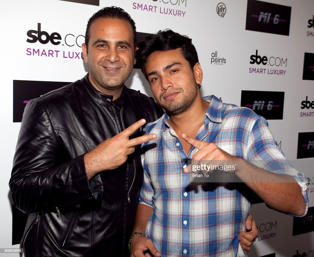 Sam Nazarian and Frankie Delgado attend Mi-6 Nightclub Grand Opening Party on September 15, 2009 in West Hollywood, California.