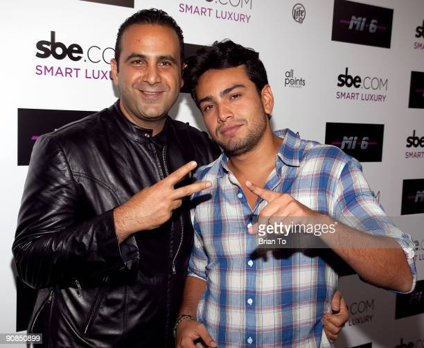 Sam Nazarian and Frankie Delgado attend Mi6 Nightclub Grand Opening Party on September 15 2009 in West Hollywood California