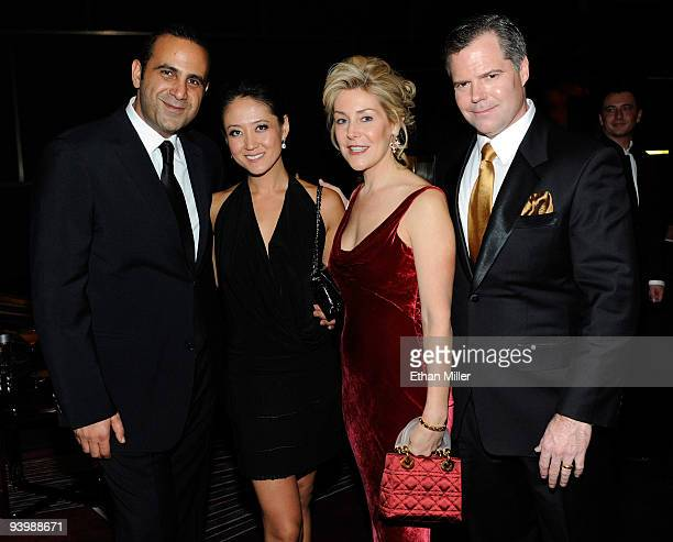 SBE CEO Sam Nazarian Tina Choi Heather Murren and her husband MGM Mirage Chairman and CEO Jim Murren attend the opening night gala for Mandarin...