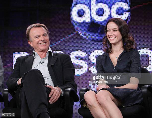 Sam Neill and Amy Acker attend the ABC and Disney Winter Press Tour held at The Langham Resort on January 12, 2010 in Pasadena, California.