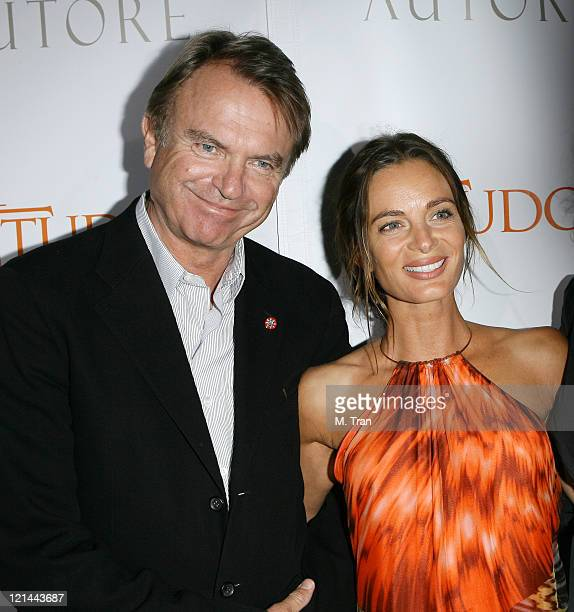 """Sam Neill and Gabrielle Anwar during """"The Tudors"""" Los Angeles Premiere - Arrivals at Egyptian Theatre in Hollywood, California, United States."""