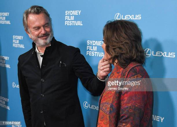 Sam Neill and Greta Scacchi attend the world premiere of Palm Beach at the 66th Sydney Film Festival Opening Night at State Theatre on June 05 2019...
