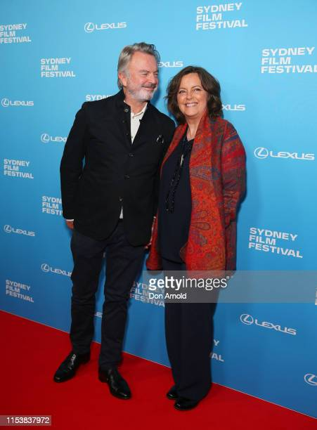 Sam Neill and Greta Scacchi attends the world premiere of Palm Beach at the 66th Sydney Film Festival Opening Night at State Theatre on June 05 2019...