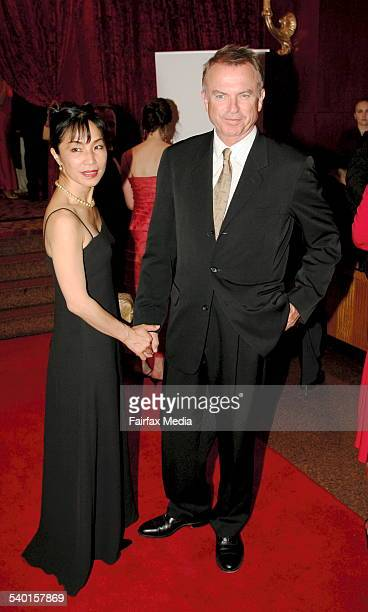 Sam Neill and Noriko Watanabe at the Hollywood Nights fundraising event for the Prince of Wales Hospital at the Four Season Hotel Sydney 23 November...