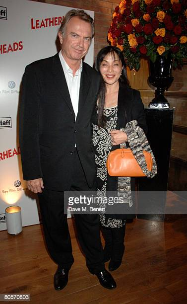 Sam Neill and Noriko Watanabe attend the afterparty following the European Premiere of 'Leatherheads' at Automat on April 8 2008 in London England
