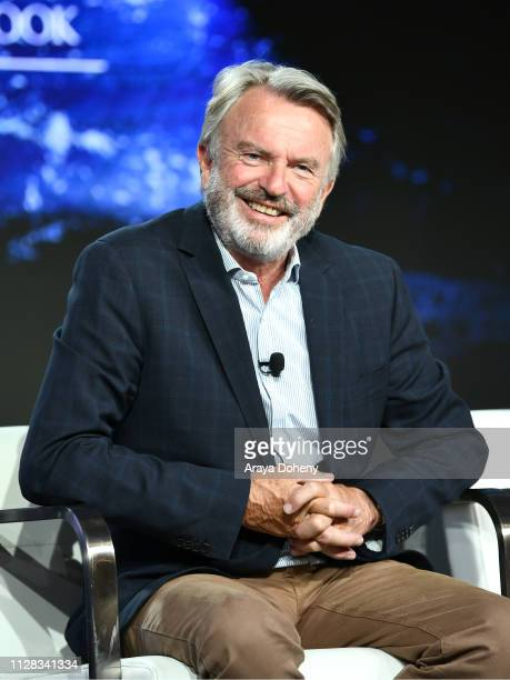 Sam Neill at Ovation Presents Upcoming Programming at 2019 Winter TCA Tour With Julia Stiles Lena Olin Yannick Bisson Lauren Lee Smith and More at...