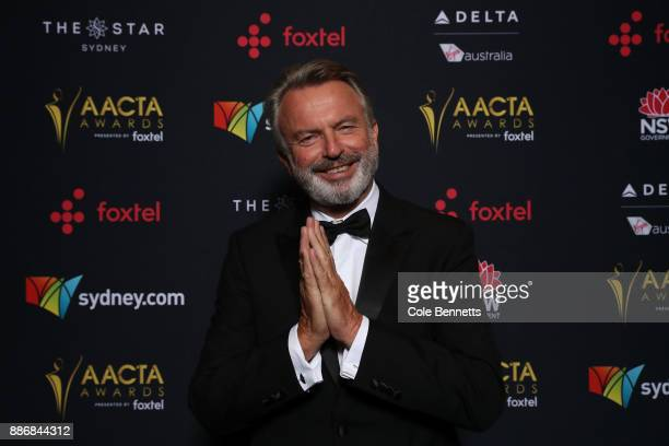 Sam Neill poses in the Media Room during the 7th AACTA Awards Presented by Foxtel | Ceremony at The Star on December 6 2017 in Sydney Australia