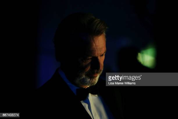 Sam Neill prepares to go on stage to present the Longford Lyell Award during the 7th AACTA Awards Presented by Foxtel at The Star on December 6 2017...