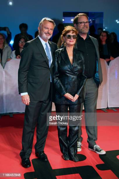 Sam Neill Susan Sarandon and Rainn Wilson attend the Blackbird premiere during the 2019 Toronto International Film Festival at Roy Thomson Hall on...