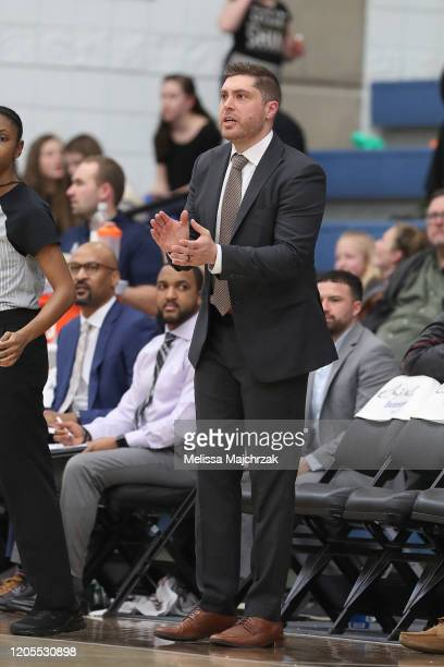 Sam NewmanBeck Head Coach of the Iowa Wolves on the court during the game against the Salt Lake City Stars at Lifetime Activities Center on March 06...