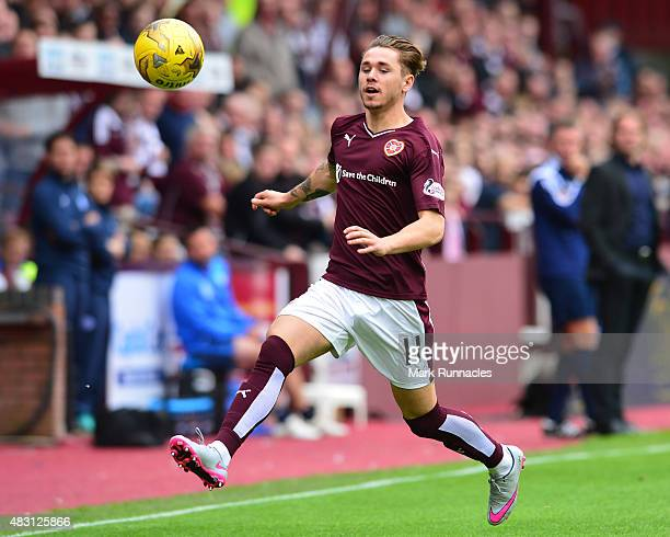 Sam Nicholson of Hearts in action during the Ladbrokes Scottish Premiership match between Heart of Midlothian FC and St Johnstone FC at Tynecastle...