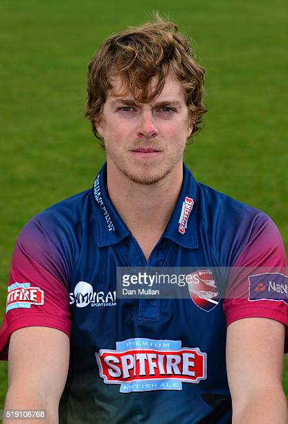 Sam Northeast Captain of Kent poses during the Kent CCC Photocall at The Spitfire Ground on April 4 2016 in Canterbury England