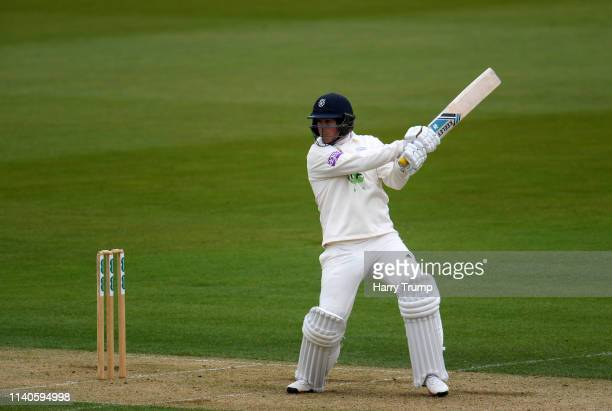 Sam Northeast of Hampshire bats during Day One of the Specsavers County Champions Division One match between Hampshire and Essex at the Ageas Bowl on...