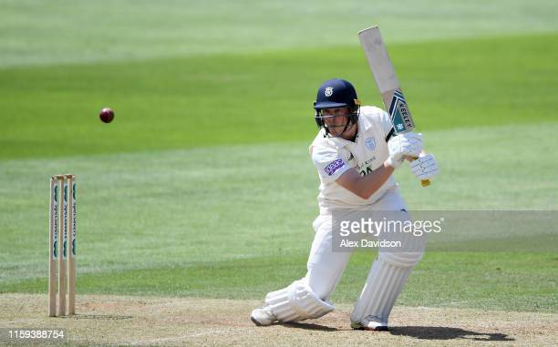 Sam Northeast of Hampshire bats during Day Two of the Specsavers County Championship Division One match between Somerset and Hampshire at The Cooper...