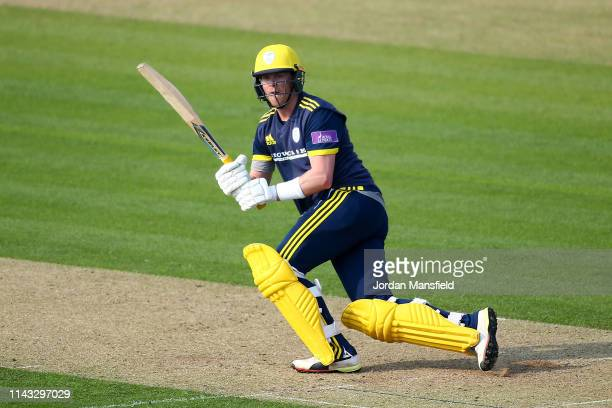 Sam Northeast of Hampshire bats during the Royal London One Day Cup match between Kent and Hampshire at The Spitfire Ground on April 17 2019 in...