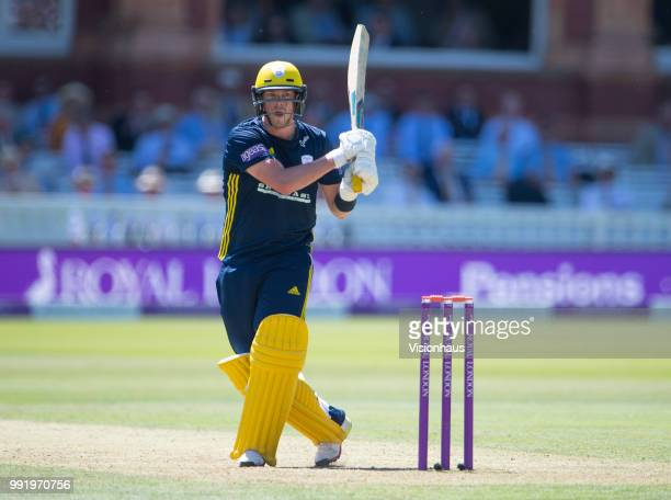 Sam Northeast of Hampshire during the Royal London OneDay Cup match between Hampshire and Kent at Lord's Cricket Ground on June 30 2018 in London...