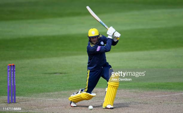 Sam Northeast of Hampshire in action during the Royal London One Day Cup match between Somerset and Hampshire at The Cooper Associates County Ground...