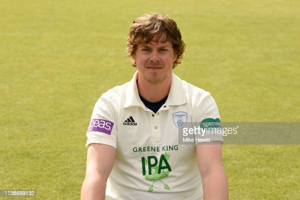Sam Northeast of Hampshire poses for a portrait during a Hampshire photo call at The Ageas Bowl on March 27 2019 in Southampton England