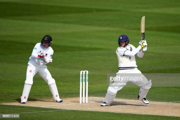 Sam Northeast of Kent bats during day one of the Specsavers County Championship Division Two match between Sussex and Kent at The 1st Central County...