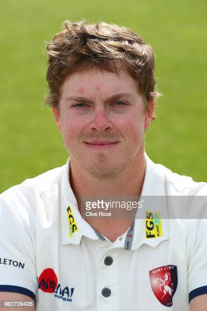 Sam Northeast of Kent CCC poses during the Kent CCC Photocall at The Spitfire Ground on March 31 2017 in Canterbury England