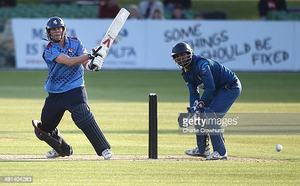 Sam Northeast of Kent hits out during the tour match between Kent and Sri Lanka at The Spitfire Ground on May 16 2014 in Canterbury England