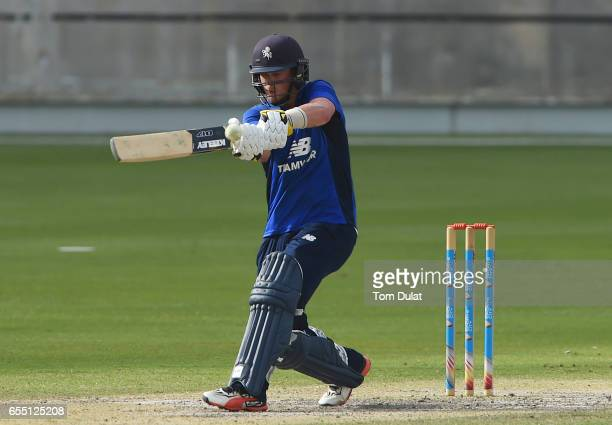 Sam Northeast of The South bats during Game Two of the ECB North versus South Series at Dubai International Cricket Ground on March 19 2017 in Dubai...