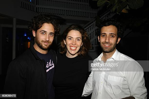 Sam Orlofsky Amy Cappellazzo and Alex attend Andre Balazs Private Sunset Party at The Standard on December 5 2006 in Miami Beach FL