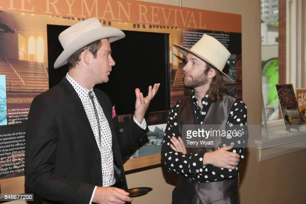 Sam Outlaw and Aaron Lee Tasjan attend the 2017 Americana Music Association Honors Awards on September 13 2017 in Nashville Tennessee
