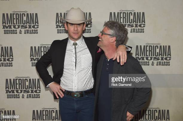 Sam Outlaw and Americana Music Association Executive Director Jed Hilly attend the 2017 Americana Music Association Honors Awards on September 13...