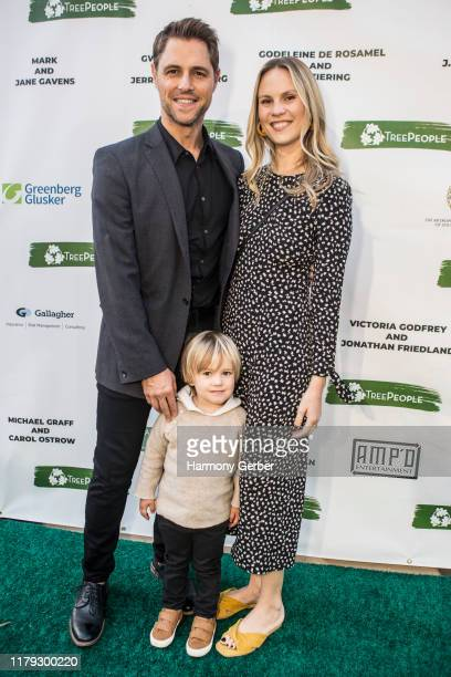 Sam Page Logan Elliott and Cassidy Boesch attend An Evening Under The Harvest Moon Gala hosted by Treepeople at Coldwater Canyon Park on October 05...