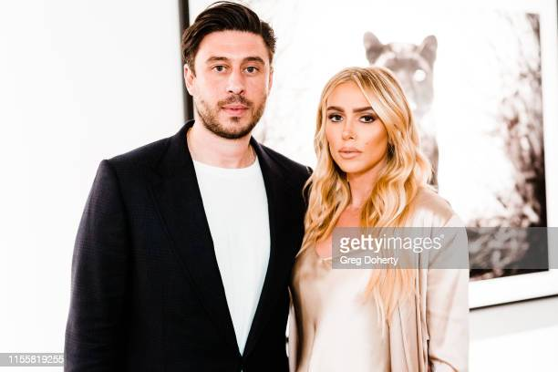 """Sam Palmer and Petra Ecclestone attend the Maddox Gallery Los Angeles Presents: """"The Disrupters"""" by David Yarrow on June 13, 2019 in West Hollywood,..."""